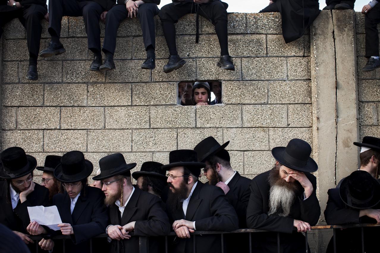 Mideast Israel Rabbi Funeral